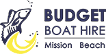 Budget Boat Hire Mission Beach Sticky Logo